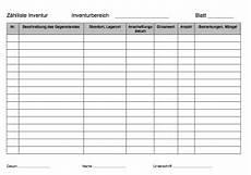 inventurliste querformat pdf pdf vorlage zum ausdrucken