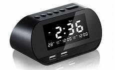 Bakeey Electronic Clock Display Dual Output by Bakeey Dual Usb Lcd Digital Snooze Sleep Dimmer Alarm
