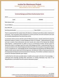background check authorization form 5 printable sles