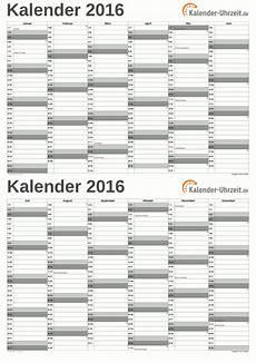 excel kalender 2016 kostenlos