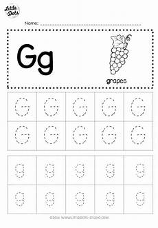 free letter g tracing worksheets