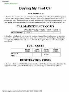 car maintenance and repair lesson plans worksheets lesson planet