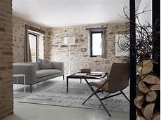 rustic stone wall interior design ideas