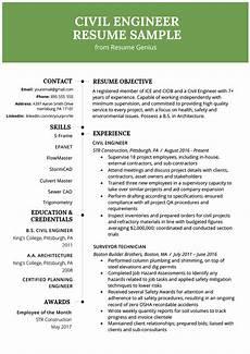 civil engineering resume exle writing guide resume genius
