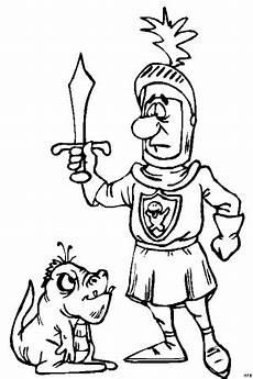 Ausmalbilder Drachen Und Ritter Ritter Mit Drache Ausmalbild Malvorlage Phantasie