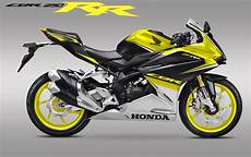 Cbr250rr Modif by Modifikasi Striping New Cbr250rr Black Yellow