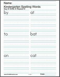 printable spelling worksheets buy k 6 in one bundle