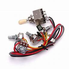 guitar wiring harness 3 way toggle switch 2 volumes 2 tone jack for les paul ebay