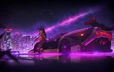 Neon Retro Cyberpunk Wallpaper by Wallpaper Auto The City Machine Neon