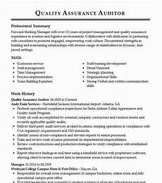 quality assurance safety auditor resume exle field