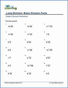 worksheets on division for grade 3 6490 grade 3 math worksheet division basic division facts k5 learning