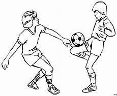 Malvorlagen Jungen Kostenlos Spielen Zwei Jungs Beim Fussballspielen Ausmalbild Malvorlage