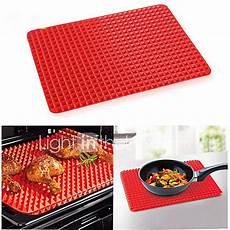 silicone bbq sheet 1 pcs bbq mat silicone bbq pyramid pan fat reducing