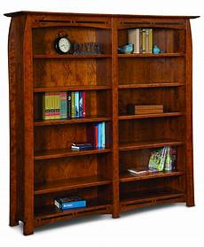boulder creek double bookcase amish direct furniture
