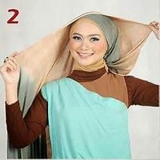 Cara Memakai Jilbab Kreasi Jilbab Pashmina Dua Warna