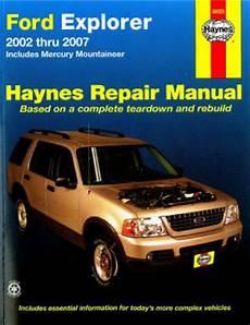 car repair manuals online free 2000 ford explorer sport trac spare parts catalogs haynes ford explorer and mercury mountaineer 2002 2010 auto repair manual