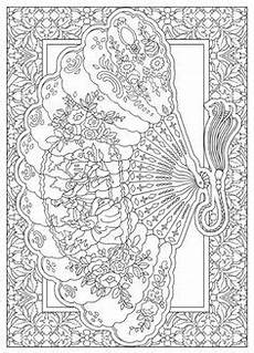 welcome to dover publications creative haven vintage hand fans coloring book adult coloring