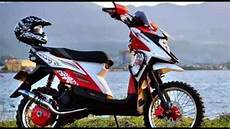 Modifikasi Matic Trail by Modifikasi Motor Matic Yamaha X Ride Road Type