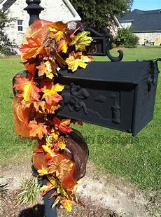 Decorations For Mailbox by Fall Mail Box Swag Wreaths Garlands And More Fall