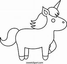 unicorn coloring page free clip