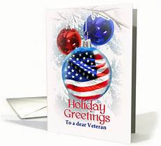holiday greetings to veteran merry christmas to retired military card