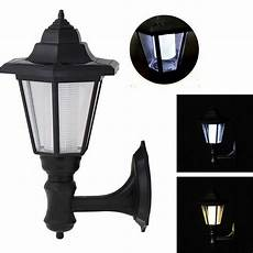 solar power vintage outdoor wall light l sconce garden lantern light fixtures ebay