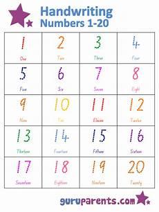 numbers chart 1 20 guruparents