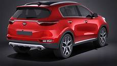 kia team 2017 kia sportage 2017 3d model cgstudio