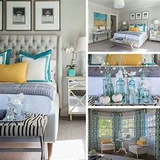Teal Master Bedroom Decor Ideas by Color Palette Teal With Accents Of Yellow And
