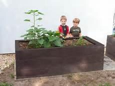 jardiniere plastique gros volume jardini 232 re potager plastique recycl 233 190 cm l x 80 h