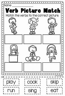 verbs printable worksheet pack kindergarten first second grade verb worksheets teaching