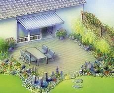 terrassenumrandung mit pflanzen terrasse gestalten