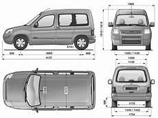 2008 Citroen Berlingo Minivan Blueprints Free Outlines