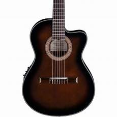 best thin acoustic guitar ibanez ga35 thinline acoustic electric classical guitar violin burst guitar center