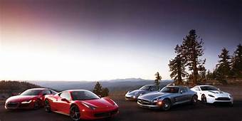 Car And Driver Comparison Test Of Five European Supercars