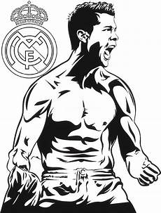 Fussball Ausmalbilder Ronaldo C Ronaldo Real Madrid Coloring And Drawing Page