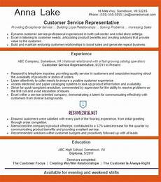 customer service representative resume exle 2016