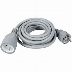 cable electrique gris dhome rallonge 233 lectrique 3 m c 226 ble souple gris h05 vv f