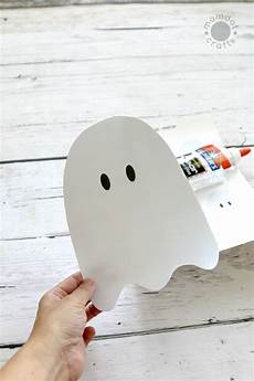 Cotton Ghosts With Free Downloadable Ghost Template