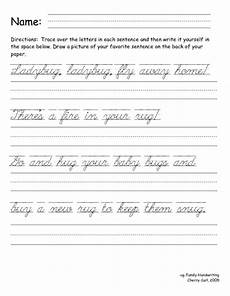 cursive writing sentences worksheets free 22145 writing cursive sentences lesson plan for 3rd 4th grade lesson planet