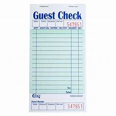 1 part green and white guest check with bottom guest receipt 50 books case ebay