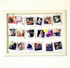 bilderrahmen memoboard mit polaroids handmade kultur