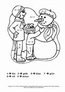 Ausmalbild Weihnachten Rechnen Rechnen Und Malen Arbeitsblatt In Der Grundschule