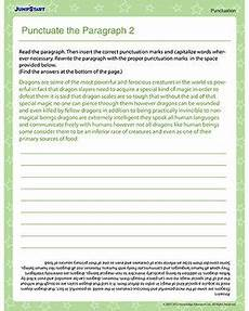 punctuation worksheets skillsworkshop 20892 punctuate the paragraph 2 free punctuation worksheet for with images punctuation
