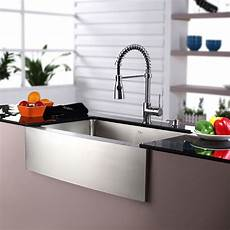 kraus kraus 30 quot farmhouse stainless steel 29 75 quot 20 quot kitchen sink with faucet and soap