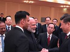 amid sikkim stand off pm modi xi praise each other hold discussion