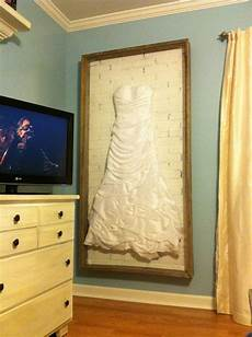 wedding dress shadow box wife wanted to display her dress