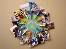 Basteln Mit Fotos - fotocollage selber machen waescheklammer ideen basteln