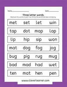 four letter words worksheets for kindergarten 23553 reading three letter words worksheets 1 education pre school worksheets worksheets three