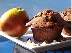 cakey chocolate pear muffins_image